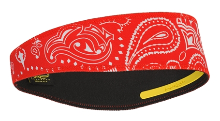 Paisley Red Halo II - pullover headband
