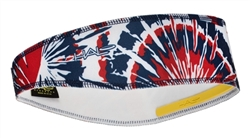 Red, White and Blue Tie Dye Halo II - pullover headband